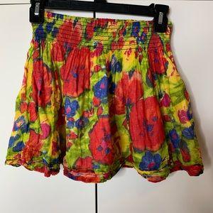 Hollister Thick WaistBand Floral Skirt